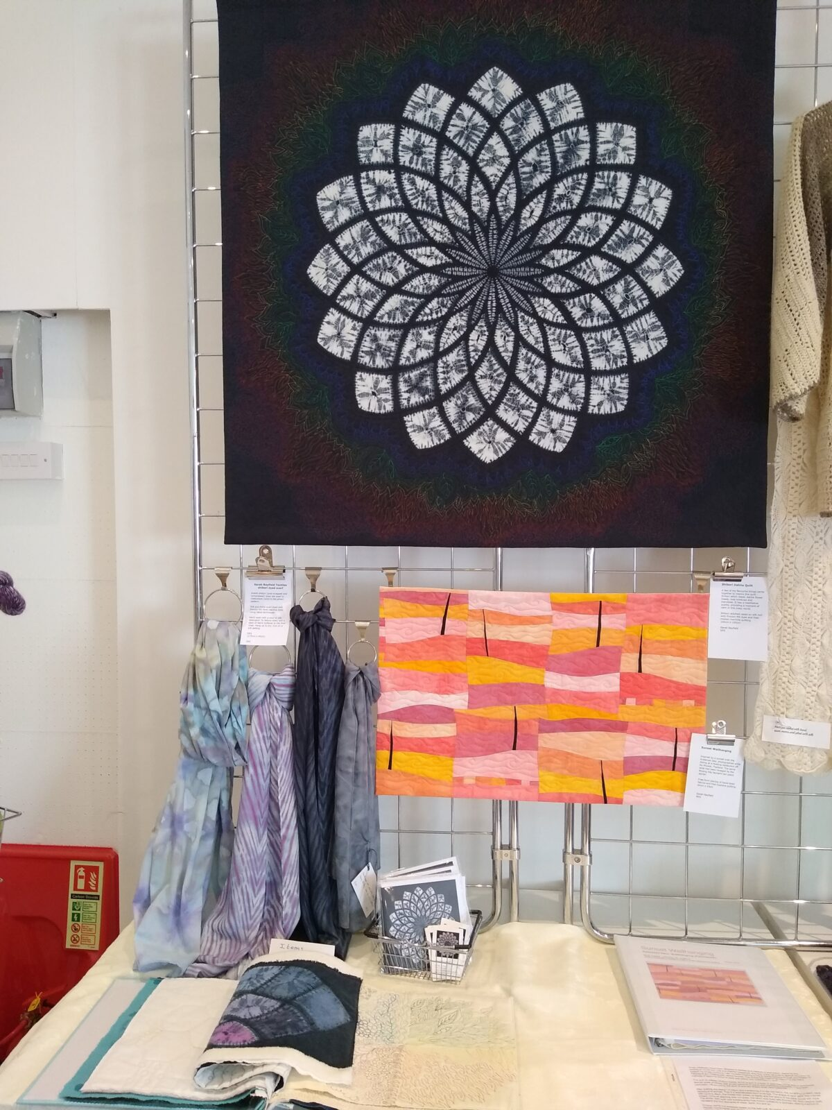 Shibori dyeing and embroidery bySarah Rayfield